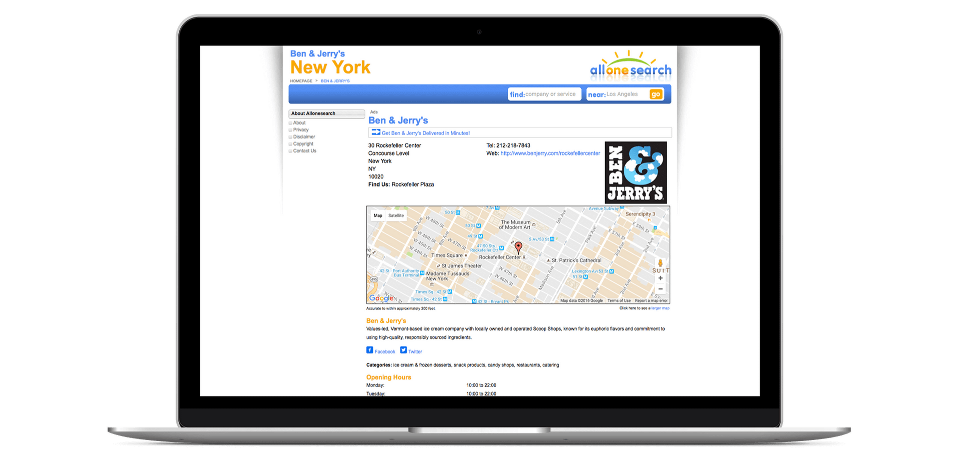 Add Your Business to Allonesearch