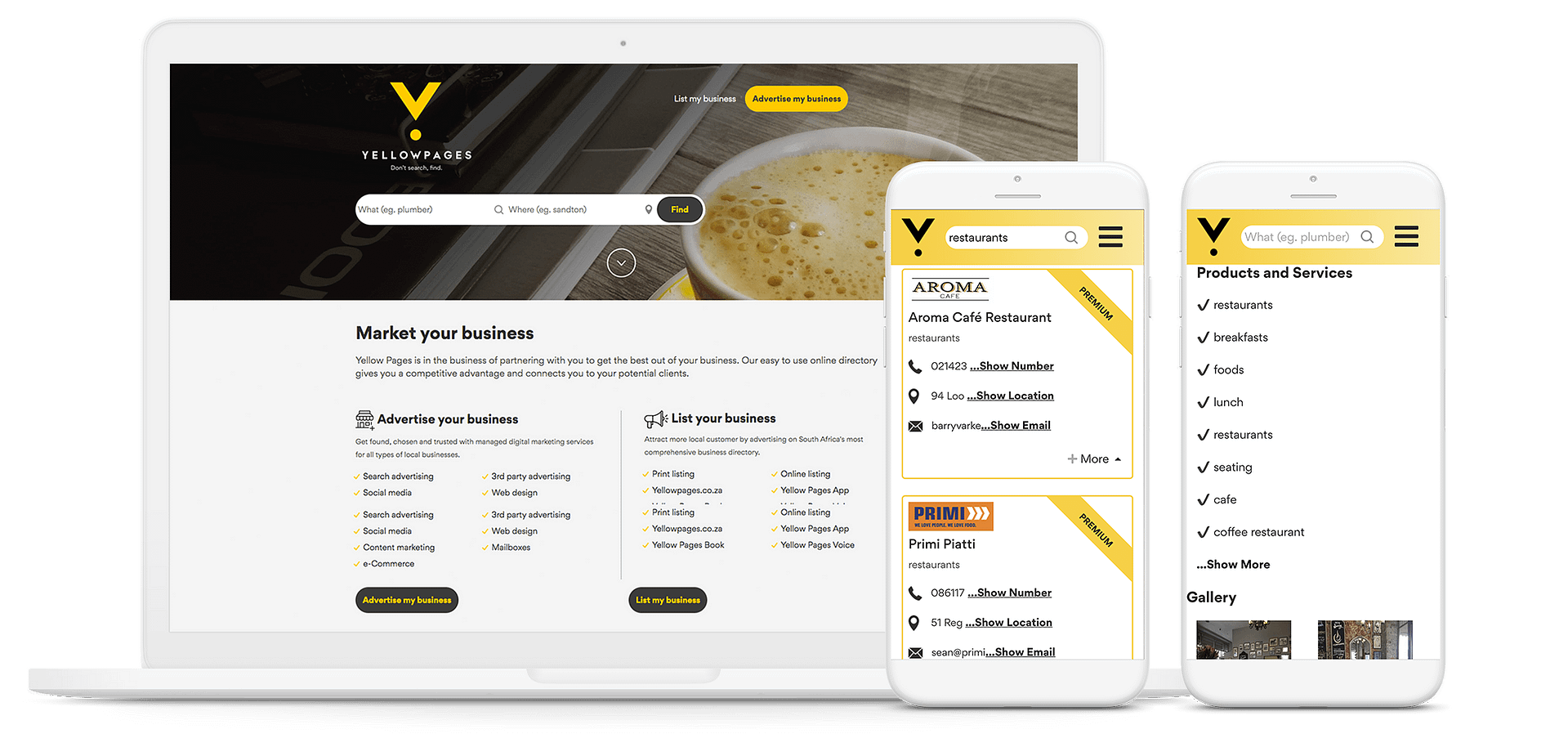 Get Your Business Listed on yellowpages co za