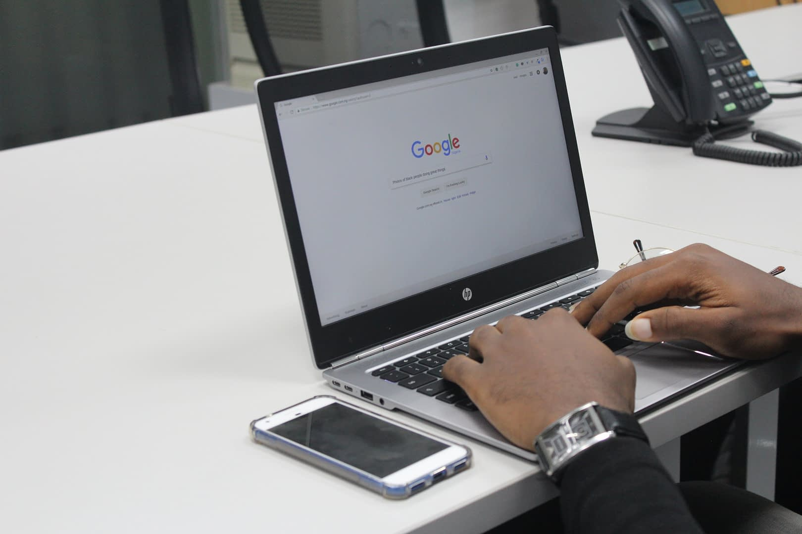 conducting voice search on google