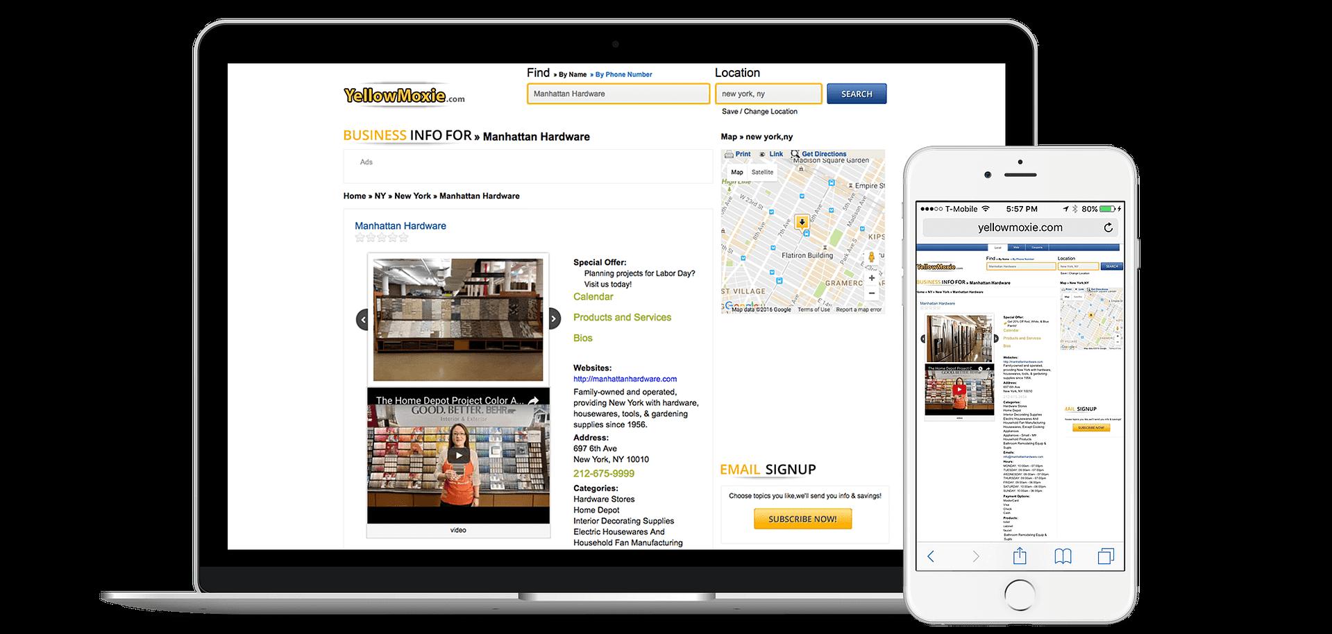 Add Your Business to YellowMoxie.com