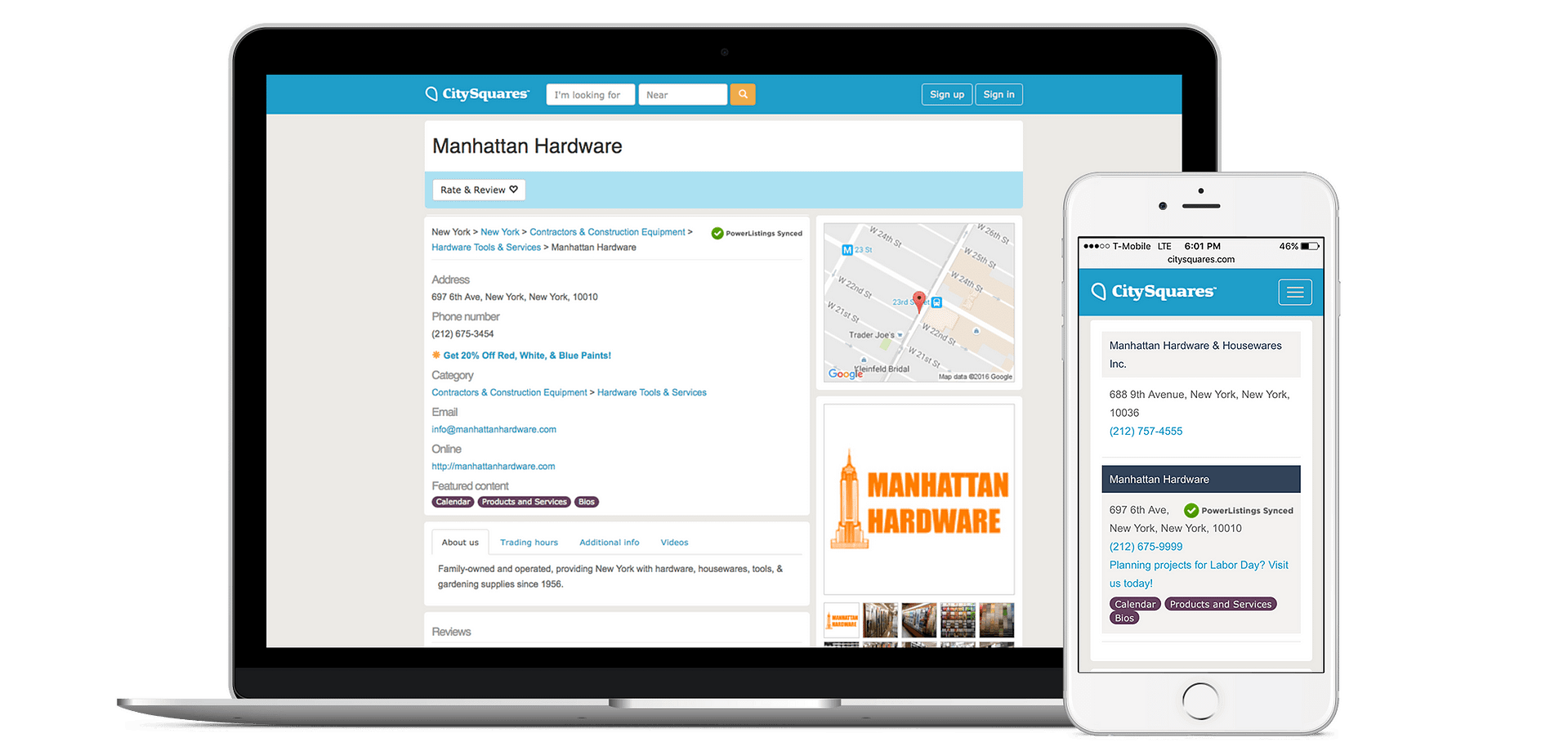 Add Your Business to CitySquares